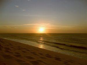Por-do-sol em Jeri